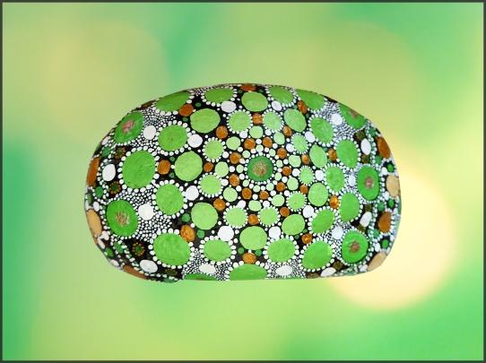 Grünes Mandala