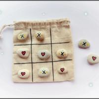 DIY Steinspiel: Tic Tac Toe