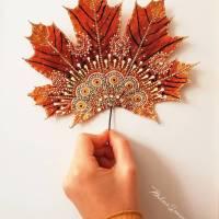 Naturkunst ~ Bemalte Blätter